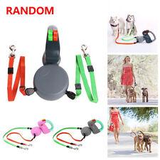 Wigzi Dual Doggie 2 Dog Retractable Leash Tangle Free, 50 Pounds Per Dog Leash