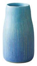 Shigaraki Earthenware Japonisme Hand Made Toruco Blue Acorn Vase Made in JAPAN!!