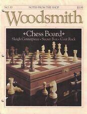 Woodsmith 1992 No 83 Chess Board, Sleigh Centerpiece, Secret Box, Coat Rack