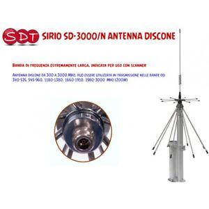Sirio Sd-3000/N Antenne Discone Rx: 300-3000 MHZ Tx : 340-535, 545-960,