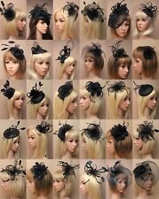 BLACK FASCINATOR WEDDING RACES PROM ASCOT OCCASION CHOOSE DESIGN HEADPIECES LOT
