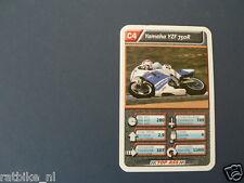 9-MOTO GP C4 YAMAHA YZF 750R KWARTET KAART RACEMOTOREN, QUARTETT,SPIELKARTE