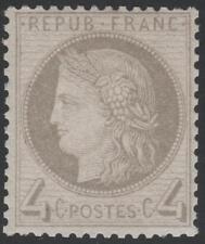 "FRANCE STAMP TIMBRE N° 52 a "" CERES 4c GRIS-JAUNATRE 1872 "" NEUF xx TTB  K266"