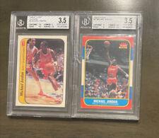 1986 Fleer Basketball Michael Jordan Rookie RC #57 Graded BGS 2, RARE!