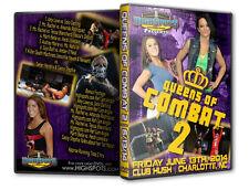 Queens of Combat 2 DVD, Female Womens Wrestling Divas Knockouts WWE TNA WSU CZW