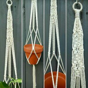 QLD made..1 x LONG Diamond pattern Macrame pot plant holder hanger - FREE POST