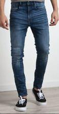 New G Star Raw 36x34 Type C 3D Super Slim Blue Jeans 5620 Restored Distressed