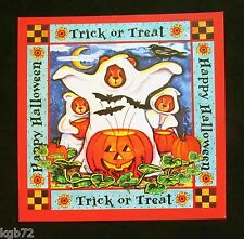 Leanin Tree Halloween Greeting Card Witch Bears Pumpkin Ghost Multi Color HW19