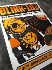 Blink 182 concert poster - Amarillo Tx 2017 - Rare!