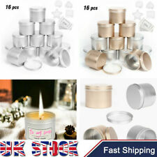 UK Candle Making Tins 16 Pieces 100ml Empty Storage Jars with Screw Lids for DIY