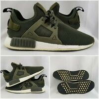 Adidas NMD XR1 Primeknit Olive Green Running Sneakers Shoes Men's size 12.5