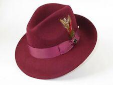 Men Bruno Capelo Dress Hat Australian Wool Fedora Untouchable EXECUTIVE Burgundy