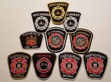 CANADIAN Fire Department Patches - LOT of 10    (CPL1)