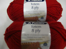 PATONS CLASSIC TOTEM ,PURE WOOL 5 BALLS DARK RED 50G.NO 4319,