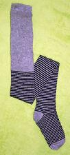 Strumpfhose für Mädchen - grau oder lila gestreift - verschiedene Größen - NEU
