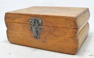 Antique Wooden Storage Chest Box Original Old Hand Crafted