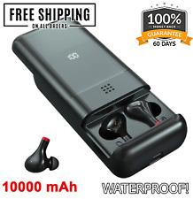 True10000 Bluetooth Headphones Wireless Earphones 5.0 Battery Earbuds Waterproof