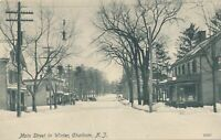 CHATHAM NJ - Main Street in Winter - 1907