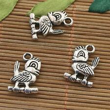 10pcs Tibetan silver two sides cute bird design pendant h5062
