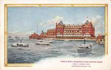 Fortress Monroe Virginia Hotel Chamberlin from Hampton Roads antique pc Z17117
