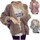 Women Short Loose Sweater Lady Bat wing Sleeve Mohair Knit Cardigan Casual Coat