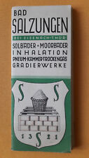 altes Reise Prospekt Bad Salzungen bei Eisenach / Thür., Verzeichnis, 1930