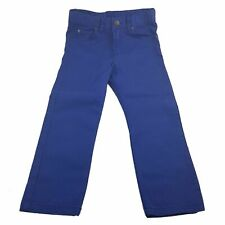 H&M Kids Youth Boys Girls Vivid Blue Straight Denim Jeans Pants Casual 110 4-5y