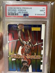 1998-99 Skybox Premium Soul of the Game Michael Jordan Card #1 PSA MINT 9 Grade