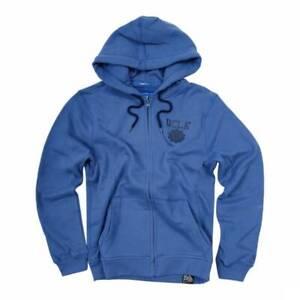 UCLA Men's Woodard Long Sleeve Sports Zip Through Hoodie Blue Size: Large