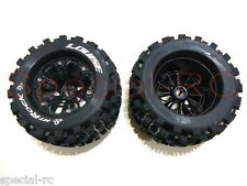 "Louise RC 1/8 MT Rock 3.8"" tires w/ 17mm hex 1/2 Offset wheels 2pcs  #L-T3277BH"
