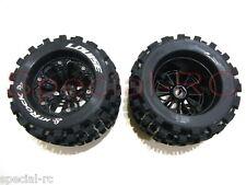 """Louise RC 1/8 MT Rock 3.8"""" tires w/ 17mm hex 1/2 Offset wheels 2pcs  #L-T3277BH"""