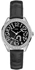 New Authentic GUESS Women Black Dial Quiz Watch G76030L New wtih guess Box & tag