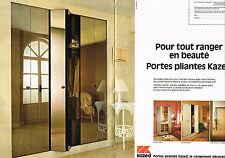 PUBLICITE ADVERTISING  1980    KAZED  portes pliantes  ( 2 pages)