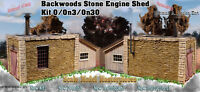 Scale Model Masterpieces/Yorke Backwoods Stone Engine Shed Kit O/1;48