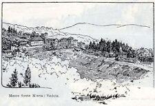 Mosso Santa Maria: Panorama. Biella.. Stampa Antica + Passepartout. 1901