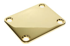 "Guitar Fat Neck Plate 2"" x 2 1/2"" .104"" thick Made in the USA Gold (no screws)"