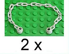 LEGO - 2 x Kette alt - hellgrau mit 21 Kettengliedern / Chain / 30104 NEUWARE