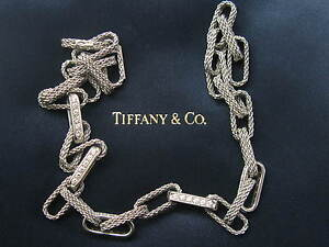 Tiffany & Co 18Kt Rope Diamond White Gold Necklace 1.80CT