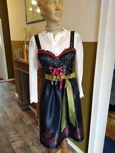 Stockerpoint Damen Kleid Midi Dirndl Knielang Schürze Oktoberfest Trachten
