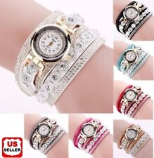 Fashion Women's Stainless Steel Bling Rhinestone Bracelet Wrist Watch Xmas Gift