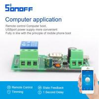 Self-locking Sonoff WiFi Wireless Smart Switch Timer DC 5V-12V Home Relay Module