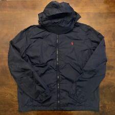 Polo Ralph Lauren Windbreaker Hoodie Jacket Navy Size Small 710789810002