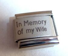 Italian Charm IN MEMORY OF MY WIFE - With Sympathy I Love fits 9mm Bracelets
