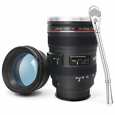 Camera Lens Coffee Mug with Suction Bottom