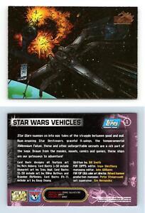Star Wars Vehicles #1 Star Wars Vehicles 1997 Topps Trading Card