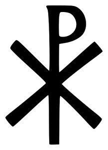 CHRISTOGRAM Vinyl Sticker - Jesus Christ Monogram Chi Rho Chrismon Die Cut Decal