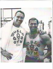 bodybuilder LARRY SCOTT/Arnold Schwarzenegger at World Gym Muscle Photo b+w