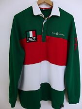 JN402 Men Sail Racing Italy Tm Cotton Polo Neck Long Sleeves Rugby Shirt Size XL