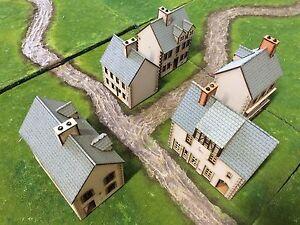 Set A 5 x 28mm European UNPAINTED BUILDING KITS