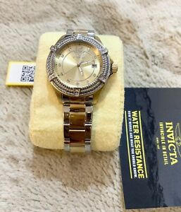 Invicta 30884 Bolt Gold Dial Two-tone Stainless Steel Ladies Watc